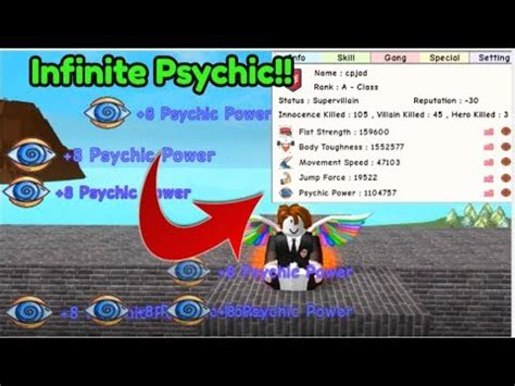 infinite psychic power  super power