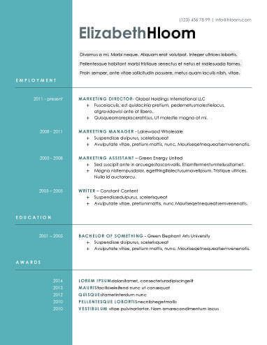 Contemporary Resume by Modern Resume Templates 64 Exles Free