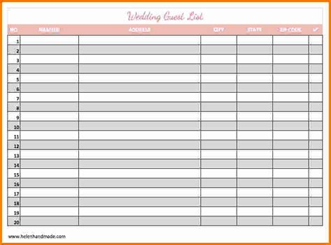 Wedding Guest List Template 4 Printable Wedding Guest List Expense Report