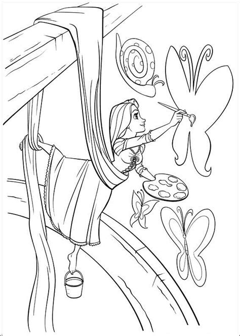Kleurplaat Rapunzel by Kleurplaten En Zo 187 Kleurplaat Rapunzel