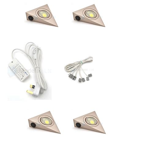 led triangle with switch satin kitchen cabinet light