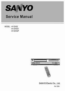 Sanyo Hvdx3 Vcr Combo  Service Manual  Repair Schematics