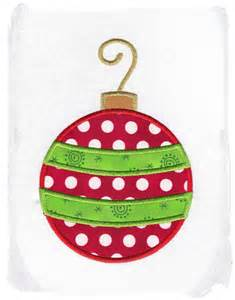 christmas ornament machine embroidery by pinkfrogcreations on etsy