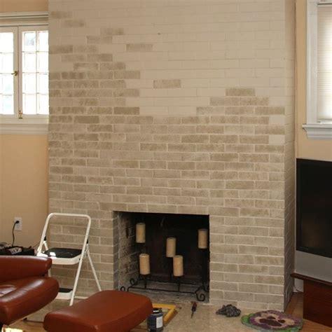 update  dated brick fireplace  paint