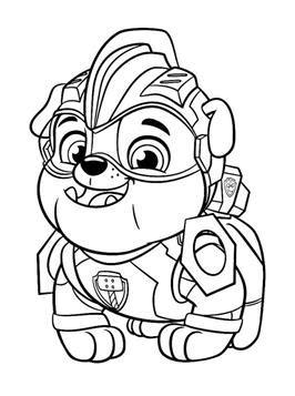 Kostenlose ausmalbilder und malvorlagen zum drucken ffuerr kinder. Kids-n-fun.com   24 coloring pages of Paw Patrol Mighty Pups