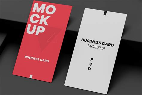 vertical business card mockups graphicxtreme