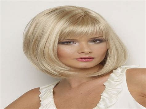 Blonde Bob Hairstyle With Fringe Blonde Short Hairstyles