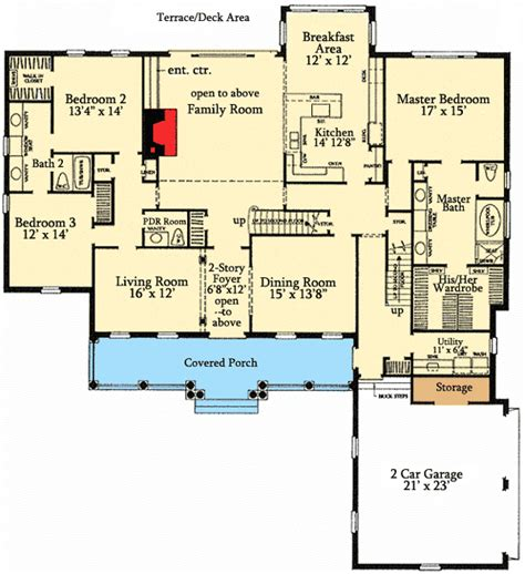 5 bedroom house plans with bonus room five bedroom country home plan 32574wp 1st floor