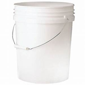 Leaktite 5 gal Bucket-5GL WHITE PAIL - The Home Depot