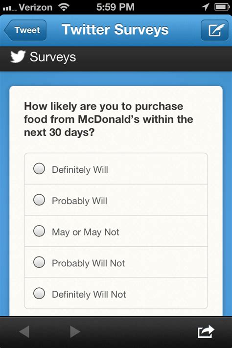 twitter brand survey  mcdonalds