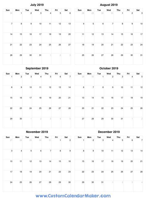july printable calendars blank templates