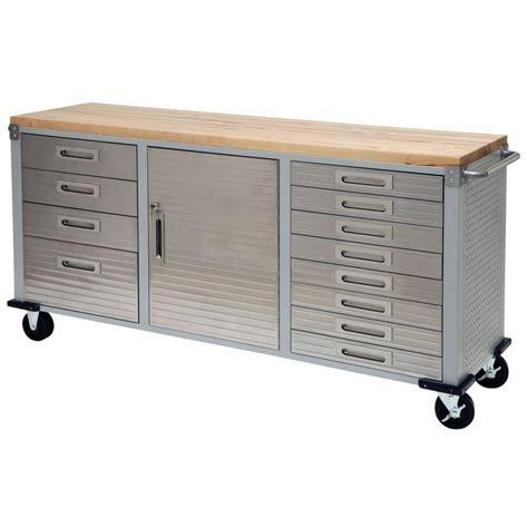Rolling Garage Cabinets by Garage Rolling Metal Steel Tool Box Storage Cabinet Wooden