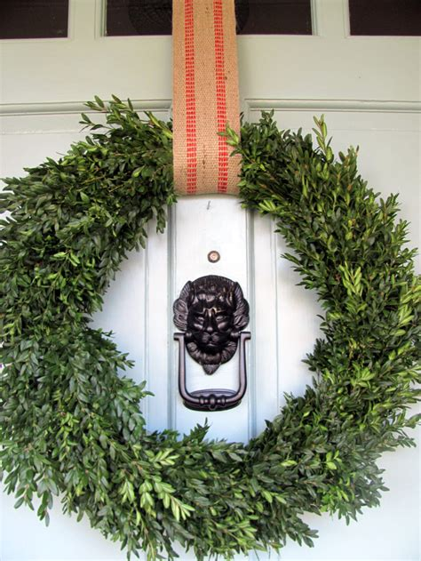 front door wreaths entry traditional  covered entry
