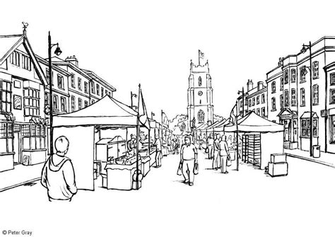 Coloring Page Market Place