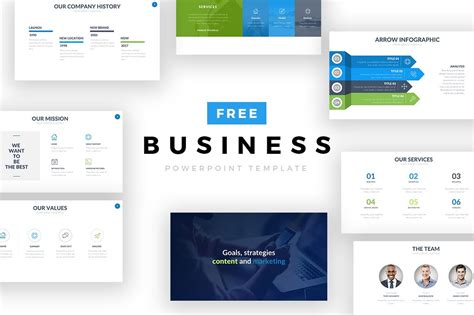 business template ppt free business powerpoint template free design resources