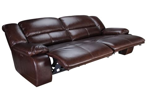 Amarillo Power Reclining Leather Sofa At Gardnerwhite