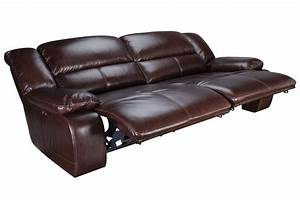 Amarillo power reclining leather sofa at gardner white for Leather sectional sofa with electric recliners