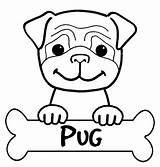 Coloring Pug Animal Adult sketch template