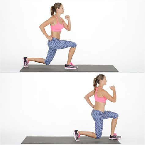 how to lunge a how to do a walking lunge popsugar fitness