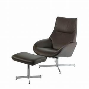 Fauteuil relax en cuir lotus de kebe for Fauteuil relaxation design
