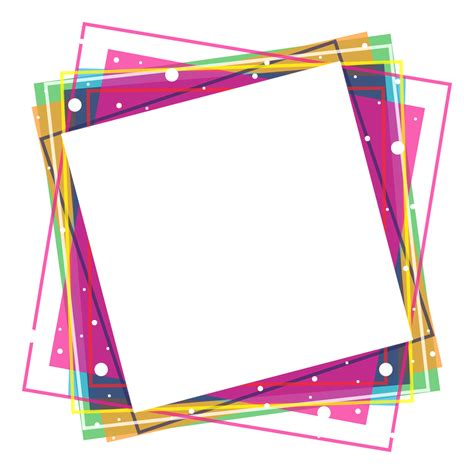 colorful picture frames colorful frames png