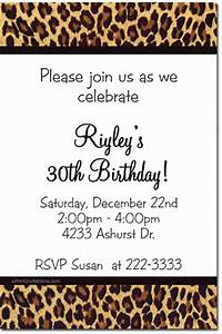 animal print birthday invitations zebra print birthday With leopard print invitations templates
