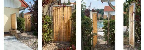 Sichtschutz Fuer Die Terrasse Aus Bambus Oder Aus Kunststoff by Die Bambusbasis Bambuszaun Mit Edelstahl