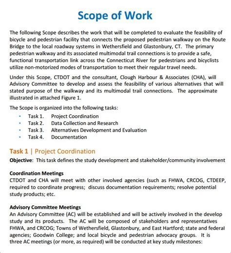 Scope Of Works Template Free Free Scope Of Work Templates Word Excel Pdf Formats