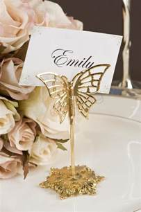 place card holders wedding wedding gold butterfly place card holders x 4 wedding wish