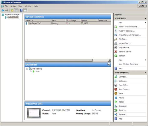 Hyper V Console by A Tour Of The Hyper V Manager Tool Virtuatopia
