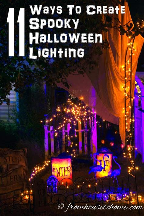 ways  create spooky halloween lighting