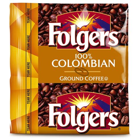 Folgers Coffee   100% Colombian   42/1.75oz Pillow Pack   Coffee Wholesale