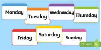 maths worksheet year 1 days of the week flashcards days week flashcards cards