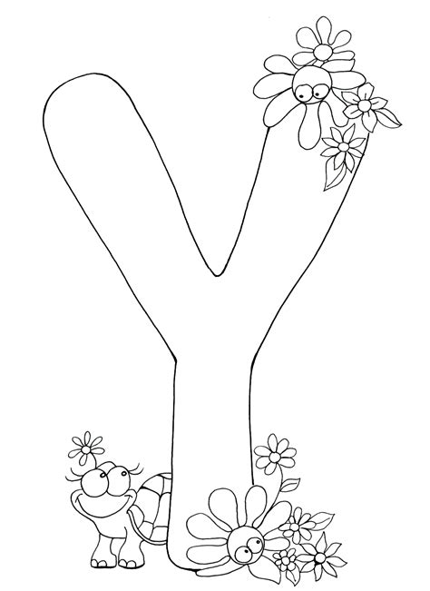 Coloring Letters by Letter Y Coloring Pages To And Print For Free