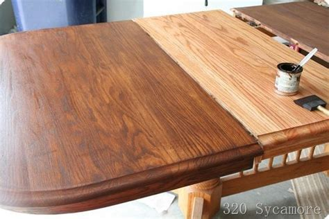 How to refinish and stain a table   sand, wood conditioner