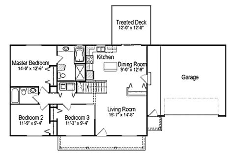 Ranch Style House Plan 3 Beds 2 00 Baths 1176 Sq/Ft Plan
