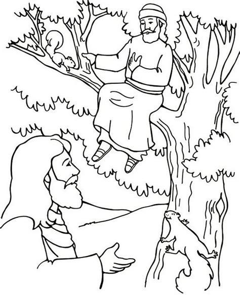zacchaeus tree  jesus coloring page