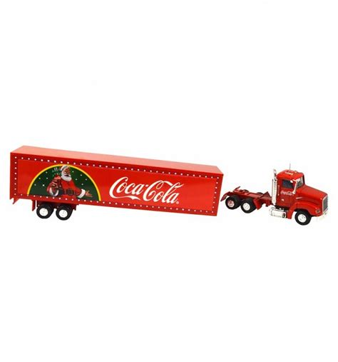 coca cola truck with light up led trailer 1 43