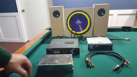 diy how to hook up a car stereo subwoofer in house