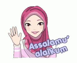 gambar animasi muslimah berbagai ekspresi kuliah desain