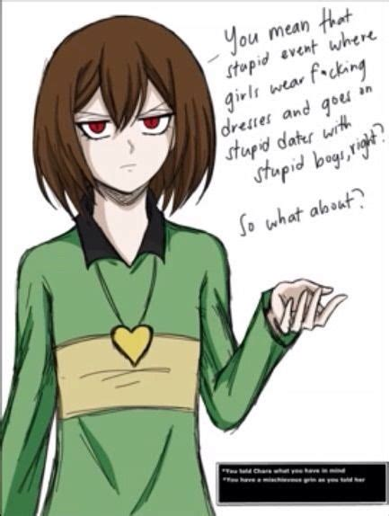 prom with frisk asriel chara undertale amino