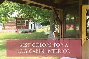 The best colors for a log cabin interior for Interior paint colors for log cabins