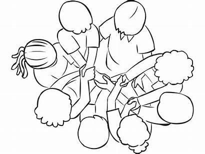 Knot Human Team Activities Building Problem Teamwork