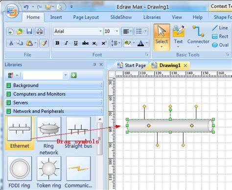 create a basic network diagram network diagram design software free