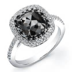 black engagement rings white gold 2 ct cushion black ring i really like the look of a black