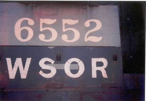 A Close Up Of 6552's Numerals(jim Hoth Photo