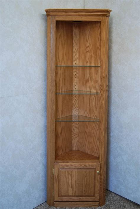 corner curio cabinet de vries woodcrafters