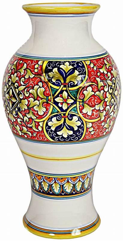 Vase Italian Ceramic Deruta Ceramics Majolica Brown