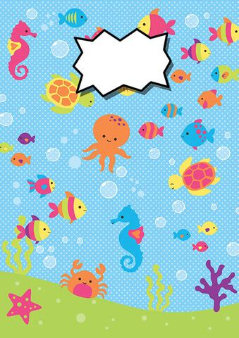 binder cover  sea animals template  printable