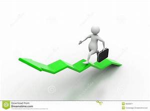 Business Man Aim To Business Growth Stock Illustration